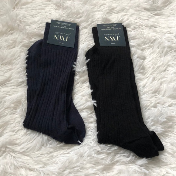 John W. Nordstrom Other - (2) NWT JWN Merino wool cable knit socks